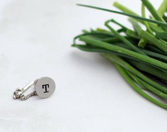 Hand Stamped Tie Pin, Personalized Tie Tack, Graduation Pin, Teacher Gift Idea
