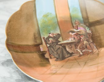 Decorative Wall Plate - Vintage European Bar Scene