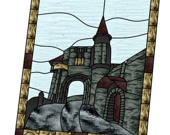 Castle stained glass pattern
