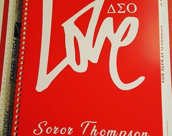 Delta Sigma Theta inspired 3 subject, 120 page notebook LOVE DST, name added for free Diva 1913