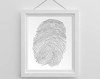 Home Decor - Unique Thumbprint Art | Wall Art | Printable Download | Instant Download