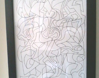 """Vortistic Composition -- 8.5"""" X 11"""" Hyper-Cubism by Nathan Coppedge"""