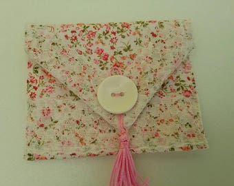 Envelope for gift card, gift card wallet, gift pouch, fabric wallet
