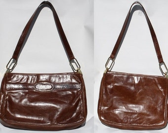 Vintage Fashion Designer Woman Handbag Quality Style Retro Brown Tan Leather
