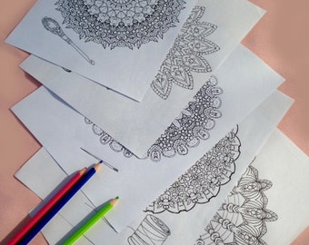 5 Lace Doily Coloring pages to Download