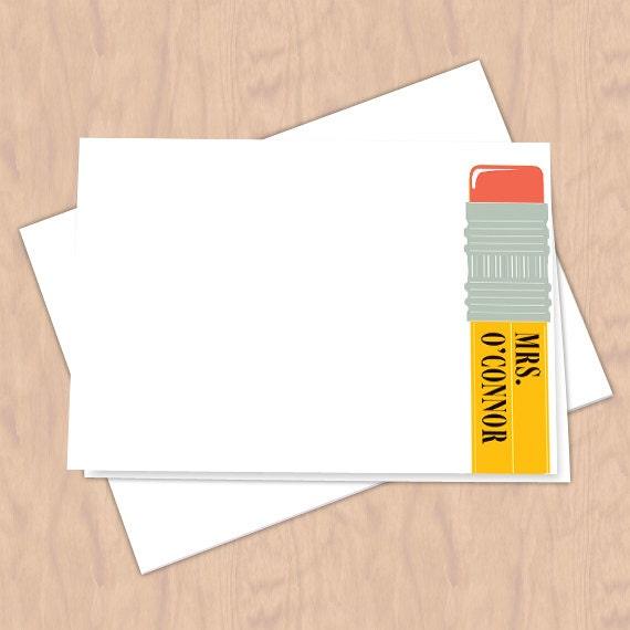 personalized notecards, thank you cards, teacher thank you cards, graduation thank you cards, 4x6 notecards, teacher appreciation, NC121