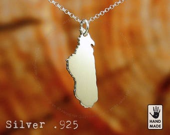 Madagascar Handmade Sterling Silver .925 Necklace in a gift box