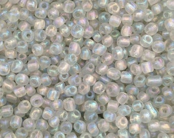 10gr rocaille transparent Pearly 4mm♥ ♥