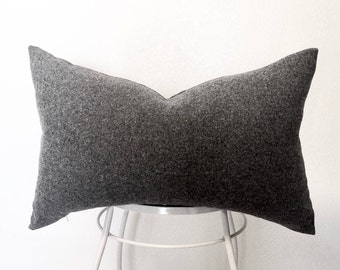 100 % Wool Gray Pillow Cover