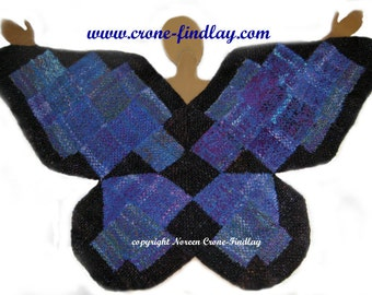 Woven Gossamer Wings Butterfly shawl pdf pattern