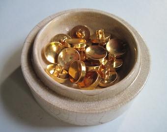 concave golden shank buttons set of 16