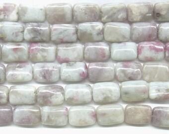 Tourmaline Beads Natural Genuine 8x12mm Rectangle Pink Beads - 4630  - 15''L 38cm Loose Beads Semiprecious Gemstone Bead   Supply