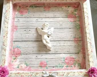 Decorated tray shabby love.
