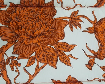 Orange flowers that eat human beings / Brown Medium Crate Mat
