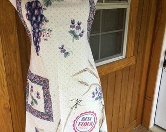 Vintage Apron, Halter, Full Bib, Handmade, Home and Living,