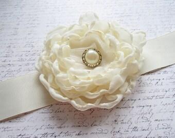 Bridal Sash, Ivory Bridal Sash, Wedding Belt, Bridal Belt, OOAK, One of a Kind, Made in Sweden, Swedish Wedding, Swedish Design
