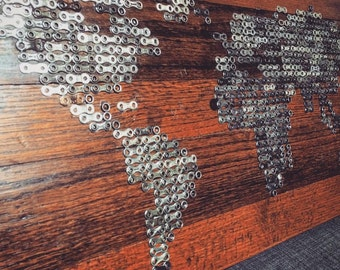 LINKED WORLD - chain art
