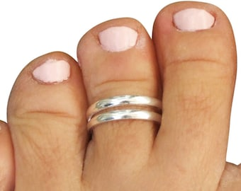 Sterling Silver Plain 2mm Band Adjustable Midi Toe Ring ZDJBig1