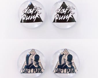 The 'Daft Punk' Glass Earring Studs