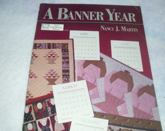 A Banner Year / Nancy J. Martin / That Patchwork Place / Decorating With Banners / Quilt Banners / Quilt Banner Patterns
