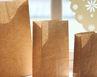 30 Basic Kraft Paper Bags - M size (6 x 10.6in)