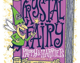 Crystal Fairy hand printed silkscreen concert poster.
