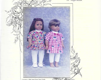 """Fancy Frocks Doll Pattern - Vintage - Mary Ann's Playtime Ensemble for 18 or 20 inch dolls - (20"""" size has been cut) - NIP/Partially cut"""