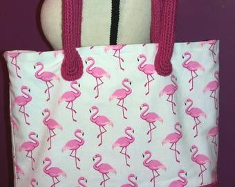 Stunning shoulder bag crochet, double cabat bag, pocket inside tote bag
