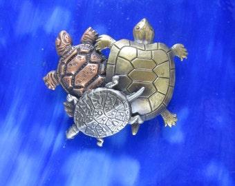Turtle Brooch- Turtle Jewelry- Turtle Pin- Sea Turtle
