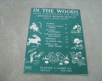 1938  vintage sheet music (  in the woods  )