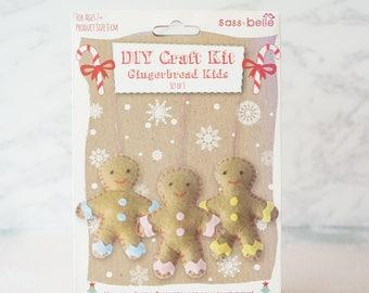 Sale Christmas stocking filler - DIY Christmas Craft - DIY ornament - Felt Kit - End of Line - make your own decoration