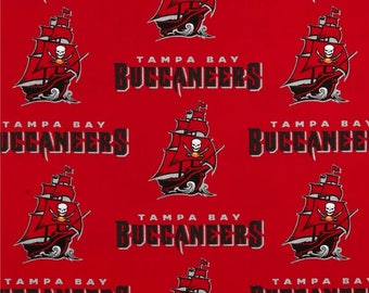 Tampa Bay Buccaneers Football, NFL Fabric, Buccaneer Football, Cotton Broadcloth Fabric