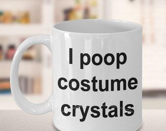 Dance Mug - Gift for Dancers - Competition - I poop costume crystals Mug