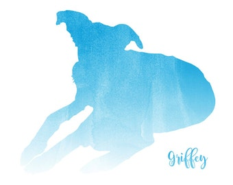 Custom Pet Watercolor // Silhouette // Printable //Digital // Pet // Dog