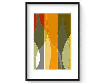 FREE FORM no.5 - Mid Century Modern Abstract Vessels Print
