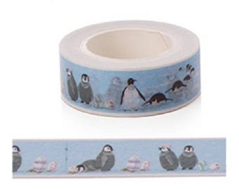 Masking tape Penguin - roll tape washi tape with penguins