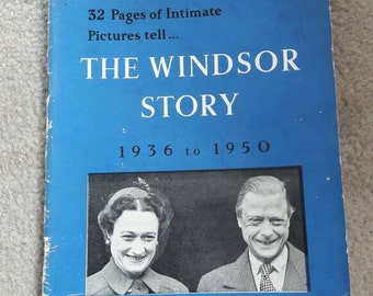 The Windsor Story, Duke & Duchess of Windsor 1936 to 1950, 14 years of exile. Vintage book, 1950's paperback, collectable, gift.