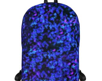 Backpack purple and blue Sequins