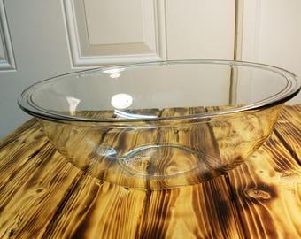 Pyrex Clear Glass Mixing Bowl 4 Qt/ 3.7 L #326 Stacking Bowl