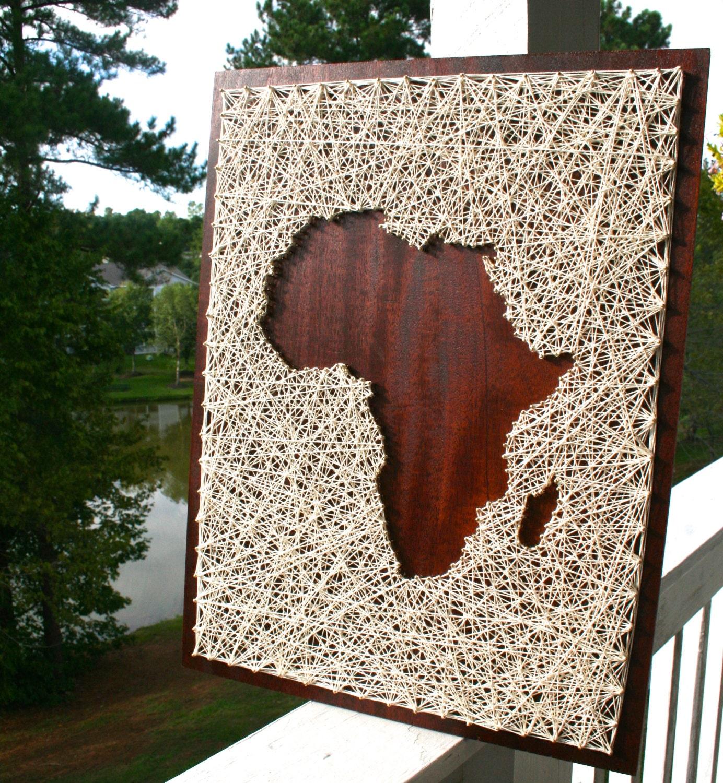 africa map decor