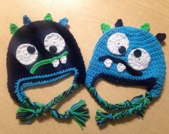 Montster crochet winter hat
