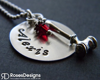 Personalized Judge Necklace, Gavel Necklace, Law, Attorney, President, Council, Law Student, by RosesDesigns