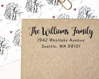 Self Inking Return Address Stamp, Custom Address Stamp, Personalized Address Stamp, Custom Wedding Stamp, Housewarming Gift - Style #106