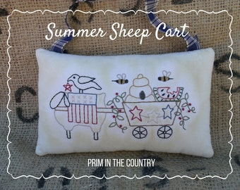 Summer Sheep Cart Pattern