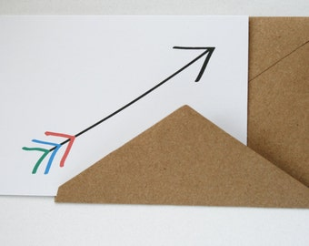 The Little Arrow --  Card and Envelope Set
