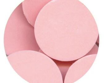 Lite Pink 16 oz Clasen Confectionery Coating - Chocolate Melts 1 pound lb bag Like Merckens Disks