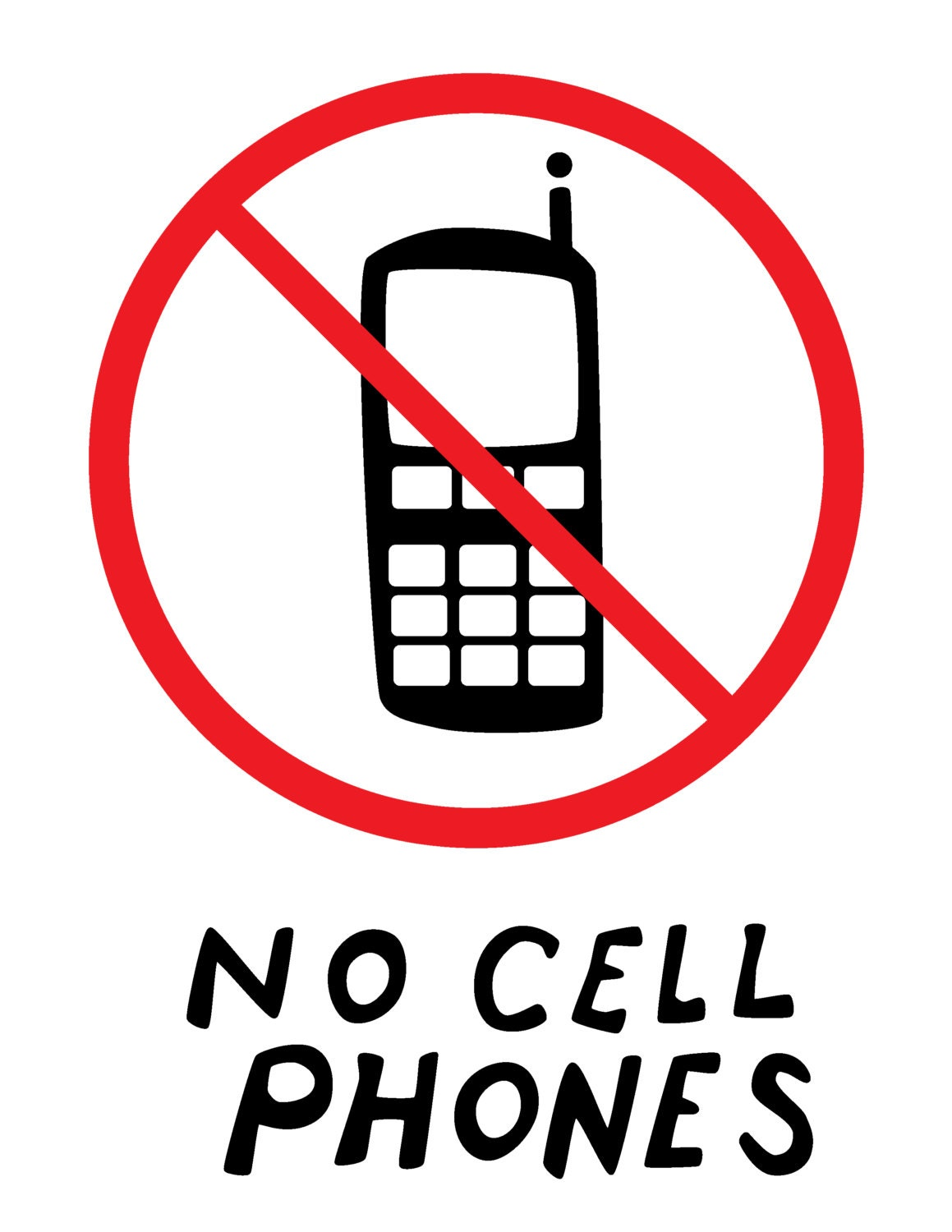 """say no to cellphones Cell phones quotes but so do a lot of people, and it's better than smoking, that's what i say """"unlike the man with no cell phone."""