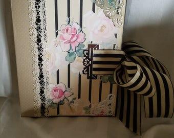 Rose Stripe 9 x 7 Mini Album Tutorial