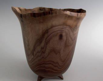 Walnut Wood Turned Bowl - Wood Bowl - Wooden Bowl- Wedding Gift Bowl, Housewarmig Gift, Mothers Day Gift, Hand Turned Bowl, Decorative Bowl