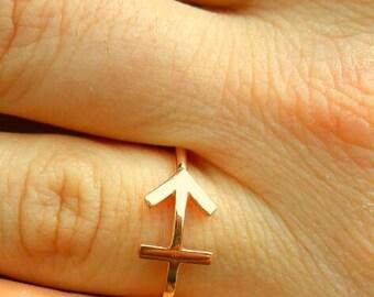 Sagittarius  Ring-Zodiac Ring-Horoscope Ring-Astrology Sign-Zodiac Jewelry-925K Silver Handmade Sagittarius Ring